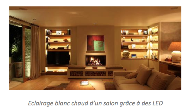 éclairage LED salon